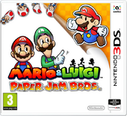 Caja de Mario & Luigi Paper Jam Bros. (Europa)
