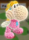 Patrón Peach - Yoshi's Woolly World