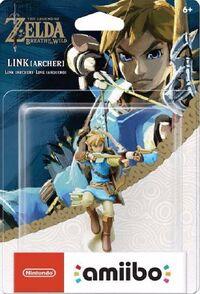 Embalaje americano del amiibo de Link (arquero) - Serie The Legend of Zelda