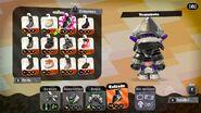 Conjunto completo (parte trasera) del amiibo del calamar inkling - Splatoon 2