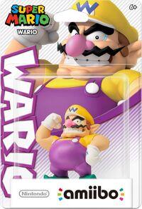 Embalaje americano del amiibo de Wario - Serie Super Mario