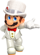 Mario con traje nupcial en Super Mario Odyssey