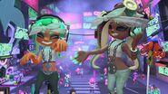 Imagen oficial de Marina y la indumentaria de su amiibo - Splatoon 2