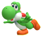 Calcomanía brillante de Yoshi - Super Mario Party