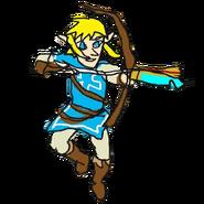 Retrato amiibo de Link (Túnica del elegido) - WarioWare Gold