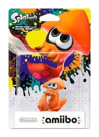 Embalaje europeo del amiibo de Calamar inkling (naranja) - Serie Splatoon