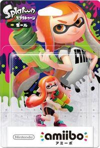 Embalaje japonés del amiibo de Inkling chica - Serie Splatoon