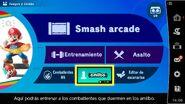 Opción amiibo en el menú del juego (+3.1.0) - Super Smash Bros. Ultimate