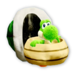 Atuendo de manualidad de Koopa Troopa - Yoshi's Crafted World