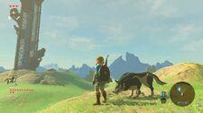 Función del amiibo de Link Lobo en The Legend of Zelda Breath of the Wild
