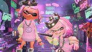Imagen oficial de Perla y la indumentaria de su amiibo - Splatoon 2