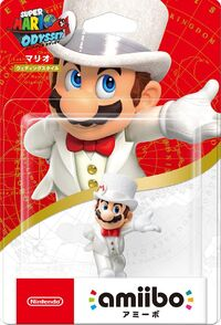 Embalaje japonés del amiibo de Mario (Nupcial) - Serie Super Mario