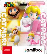Embalaje europeo del pack de Mario Felino y Peach Felina - Serie Super Mario