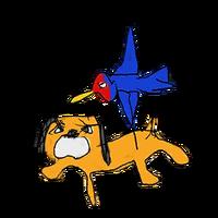 Retrato amiibo del Dúo Duck Hunt - WarioWare Gold