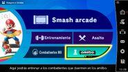 Opción amiibo en el menú del juego - Super Smash Bros. Ultimate