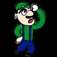 Retrato amiibo de Luigi - WarioWare Gold