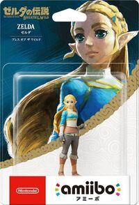 Embalaje japonés del amiibo de Zelda - Serie The Legend of Zelda