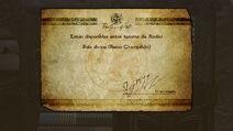 Mensaje de desbloqueo de la Bala divina Reino Champiñón - Bayonetta 2