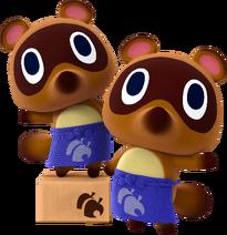 Tendo y Nendo en Animal Crossing amiibo Festival