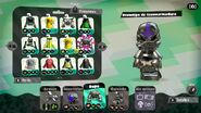 Conjunto completo del amiibo del calamar inkling (morado neón) - Splatoon 2