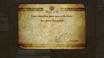 Mensaje de desbloqueo de la Bala divina Sarasaland - Bayonetta 2