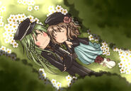 Ukyo and Heroine. Kawaii