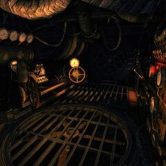 Decontamination chamber interior.