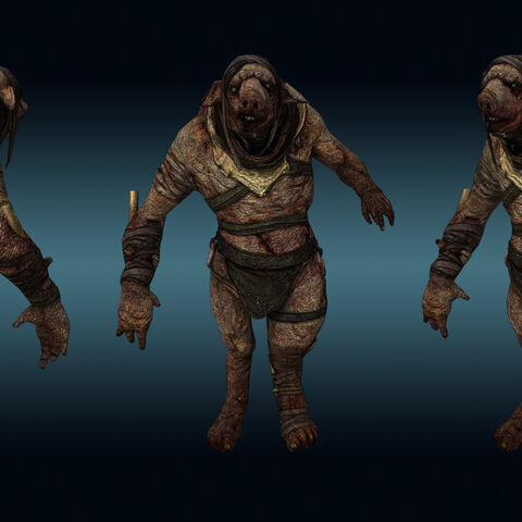 Render of The Wretch Manpig
