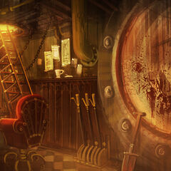 Concept art of the reactor control room.