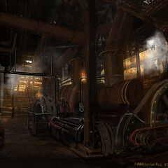 Concept art of the cellar engine