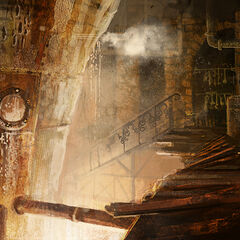 Concept art of the boiler room