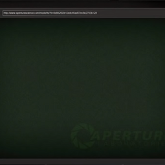 An example of an Aperture Science login screen.