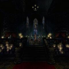 Altar inside the church.