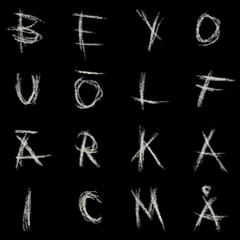 All chalk letters.