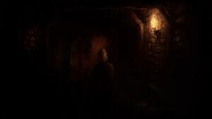 Alexander Walking In A Corridor