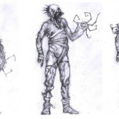 Conceptos de etapas del Grunt con diferentes brazos.