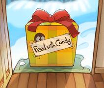 Кормить конфетами!