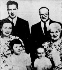 William Bauer and family