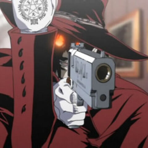 Lord black sacando su arma y mostrando su signo en honor a los lord black