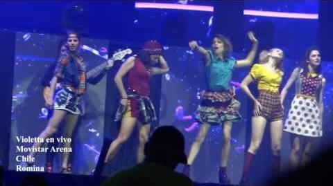 Alcancemos las estrellas Violetta en vivo - Chile 2013