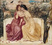 300px-Sappho and Erinna in a Garden at Mytilene