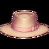 Chapéu panamá com laço bege