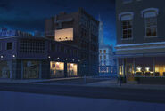 Rua das lojas noite