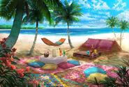 Beira da praia descanso