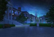 Entrada campus noite