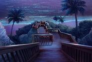 Escadaria da praia (noite)