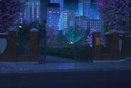 Entrada parque noite