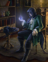 Young Moreusico learing a spell