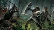Battling against the clansmen
