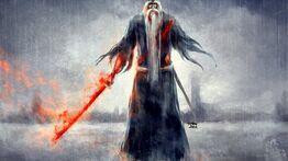 Old Jafier Heartan with Dragonheart